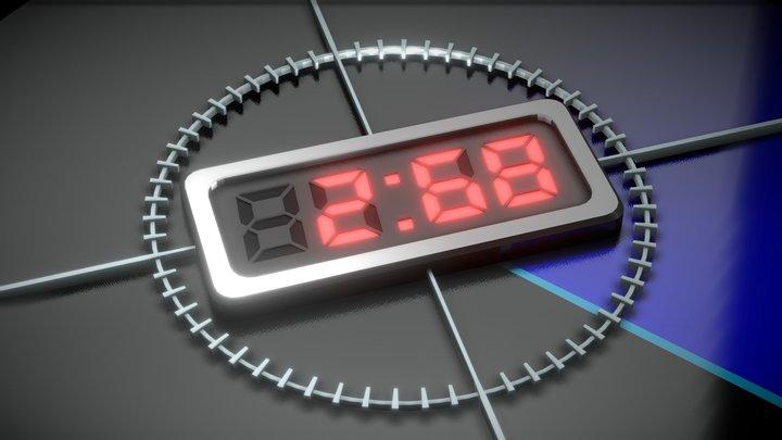 Video Countdown 5 4 3 2 1 3D Model