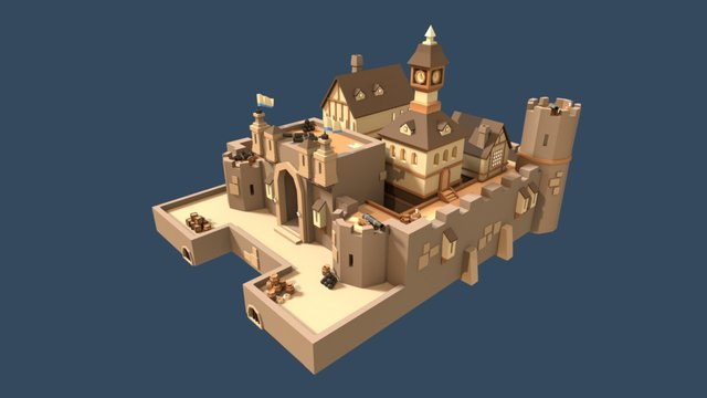 Fort 3D Model