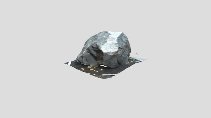 Rock Garden Sample Poor Mountain 3D Model