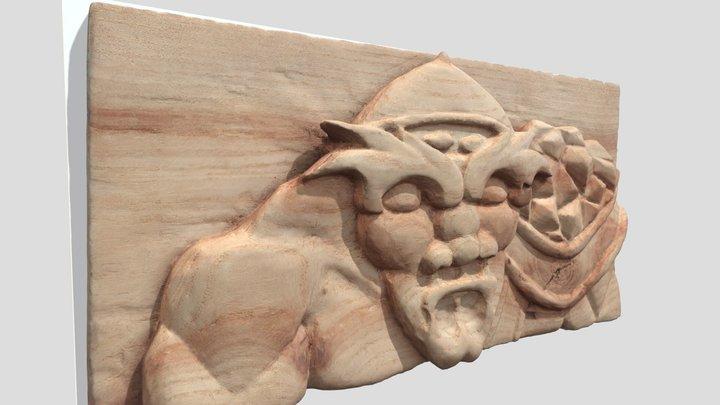 Talla en madera de roble 3D Model