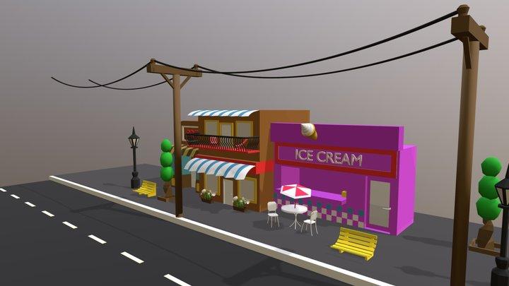 Streetscene 3D Model