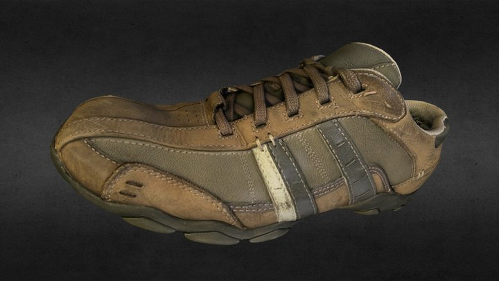 Used_Male_Sports_Shoe_3D_Photogrammetry 3D Model