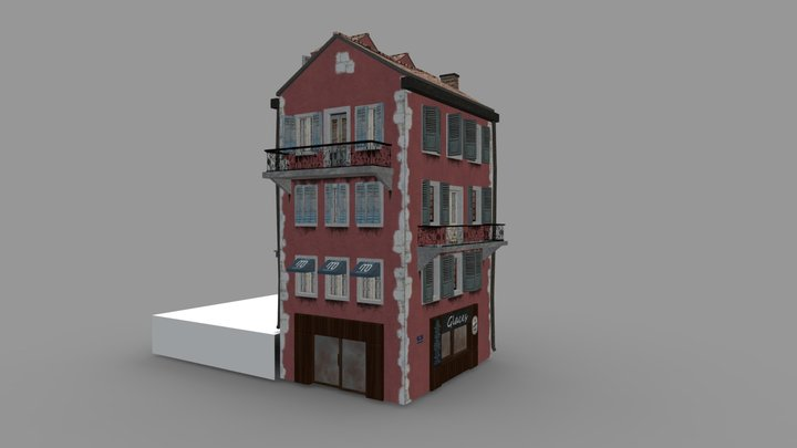 Test House Restaurant 3D Model