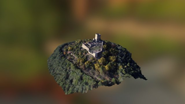 Rupecanina Castle, Sant'Angelo d'Alife (CE) 3D Model