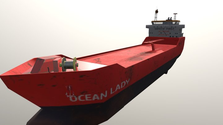 Container Ship Oil Tanker 3D Model