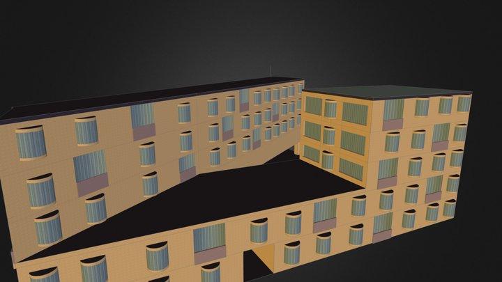 Lochergut Zürich Basic Exterior 3D Model