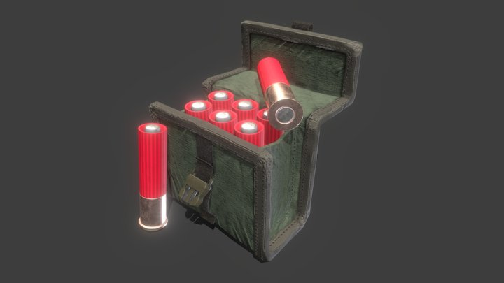 Shotgun Ammo Pouch 3D Model