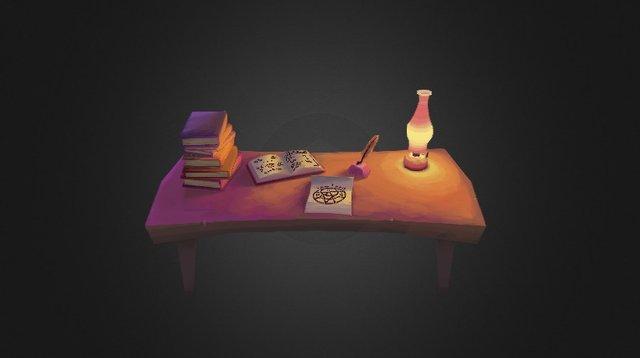 Magical Studies Desk 3D Model