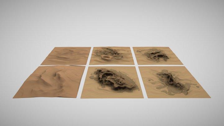 Mountainus Deserts / Plains 3D Model