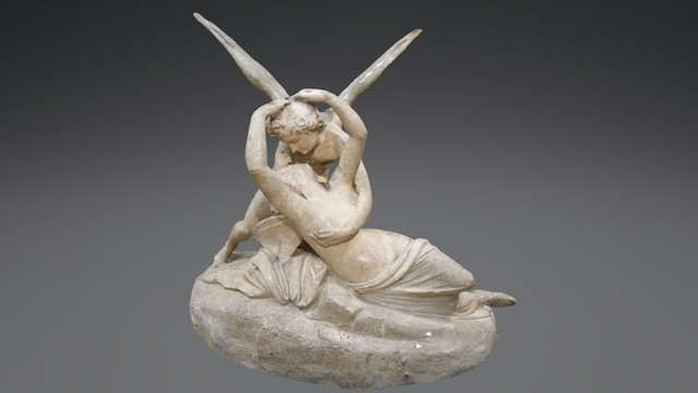 Psyche Revived by Cupid's Kiss 3D Model