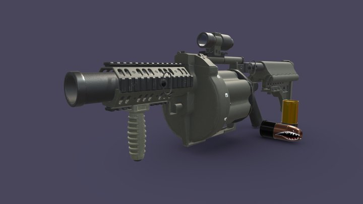 Milkor Grenade Launcher 3D Model