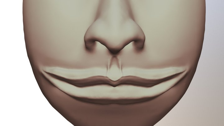 Day 1: Mouth And Nose 3D Model