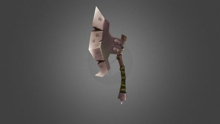 Low Poly Axe 3D Model