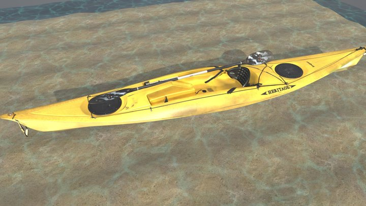 Kayak - Summer Fun! 3D Model
