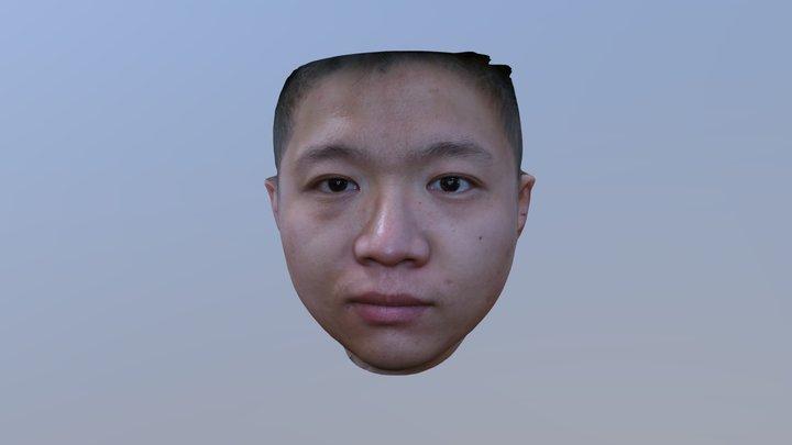 Bellus3D 3/4 Head Scan Example 3D Model