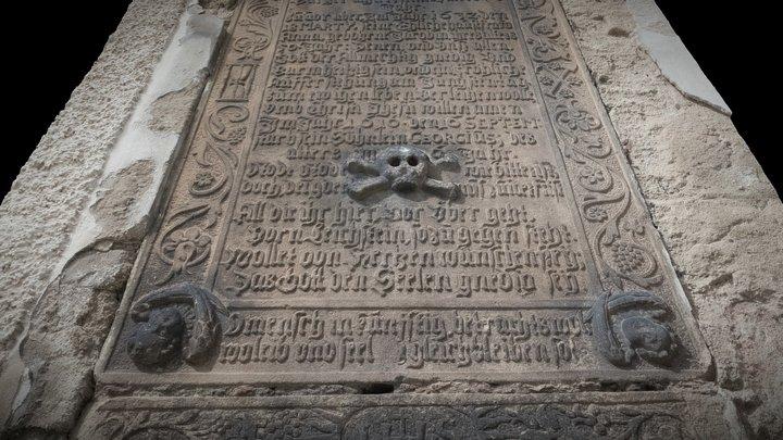 Epitaf na zdi u kostela Sv Petra a Pavla 3D Model