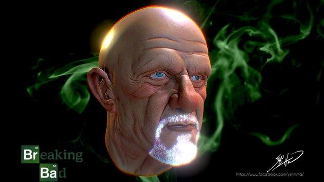 Jonathan Banks likeness textured 3D Model