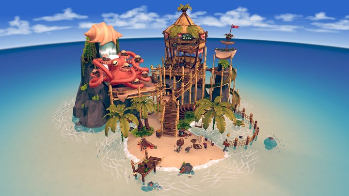 Little Pirate's Island 3D Model