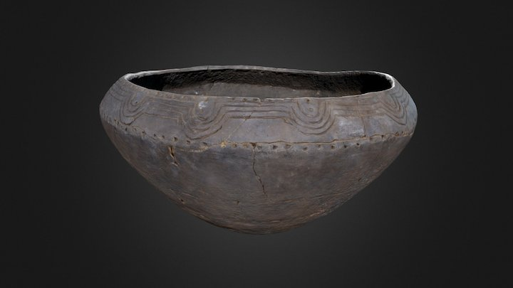 Burke Incised Bowl (1079p17) 3D Model
