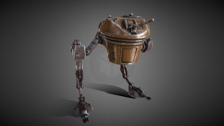 biped walking tank _ ver-01 (PBR texture) 3D Model