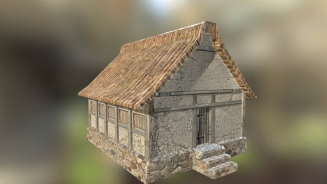 Grain House/Storage 3D Model