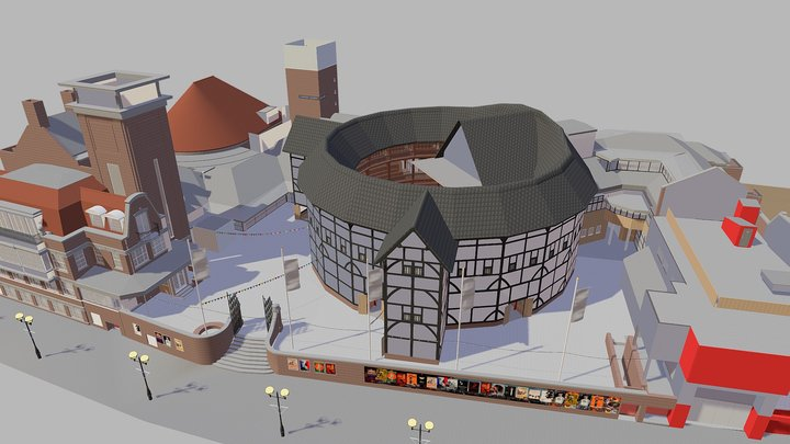 The Globe Theatre (With VR Capability) 3D Model