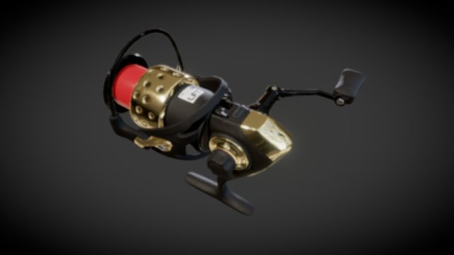 Fishingreel Animation 3D Model