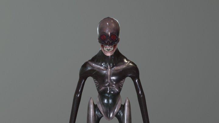 Clear Dome Alien Creature 3D Model