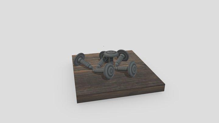 Clavos y madera 3D Model