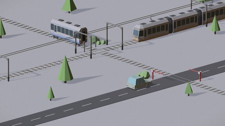 Isometric train animation - Daily render - 20 3D Model