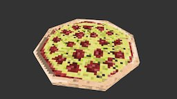 Low-Poly Pizza 3D Model
