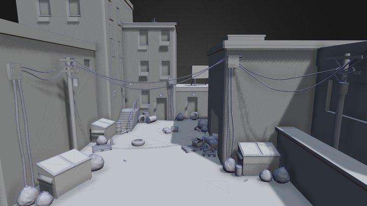 City Backstreet Alley [Work In Progress] 3D Model