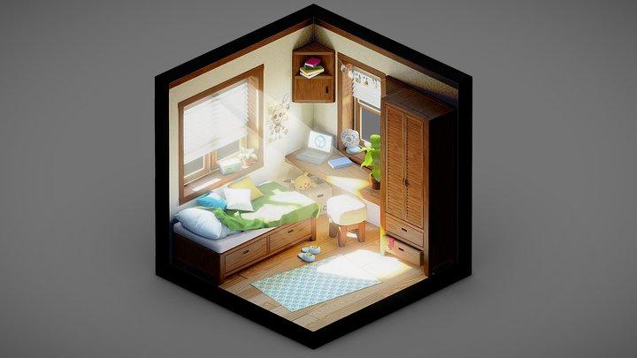 Tiny Isometric Room 3D Model