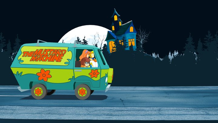 The Mystery Machine 3D Model