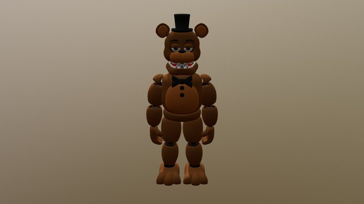 E_A Unwithered Freddy 3D Model