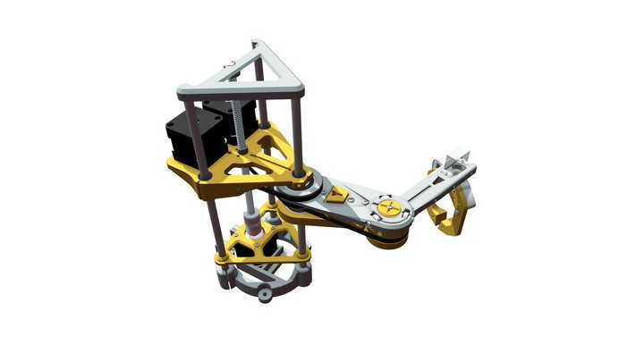 SCARA Robotic Arm by (jjRobots) 3D Model