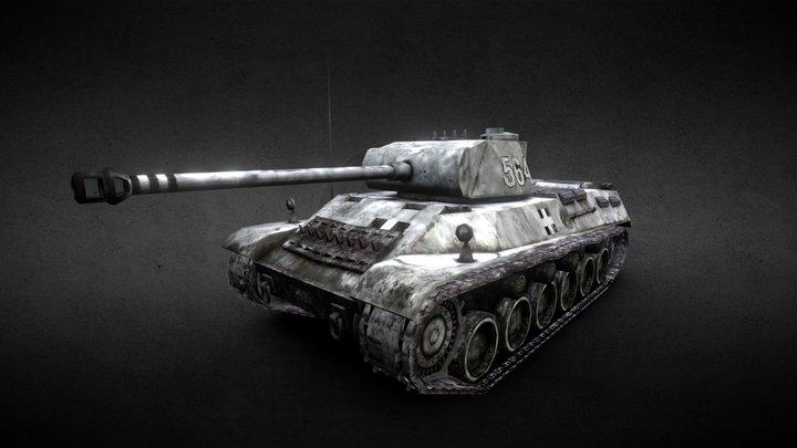M43 Tas heavy tank - game asset 3D Model