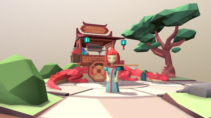 Mobile Dragon Shop 3D Model