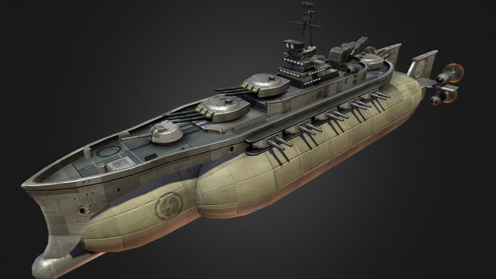 StormSiege Airship 3D Model