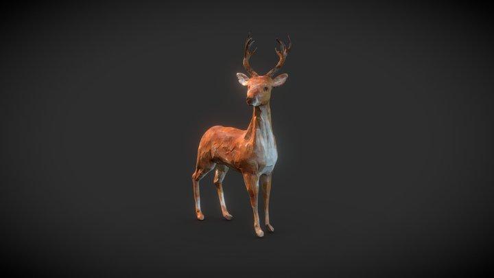 Stylized Deer 3D Model