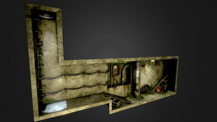 Abandoned Basement 3D Model