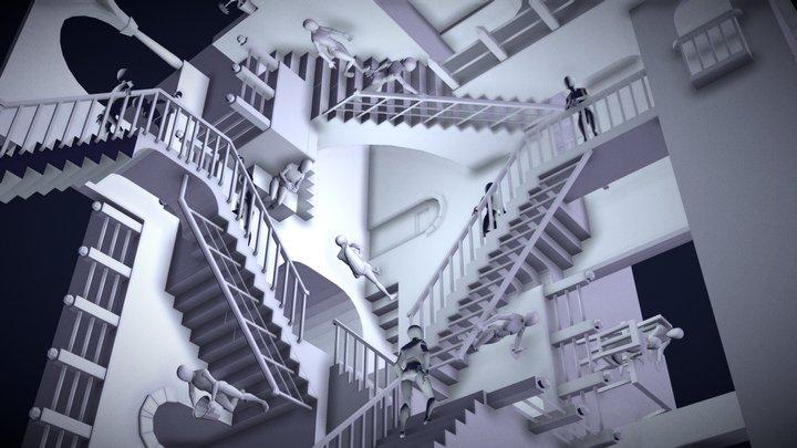 Escher Relativity 3D Model