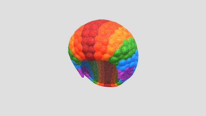 Rainbow Afro Hair 3D Model