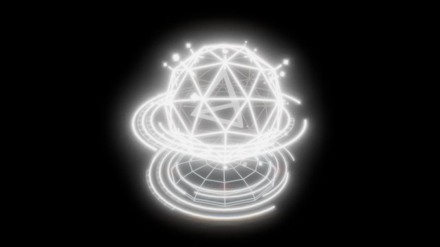 Sphere Map Hologram /// 3D Model