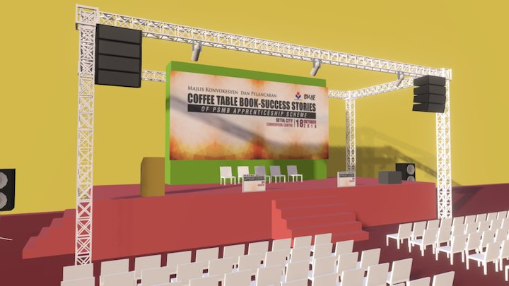 Stage mock up 3D Model