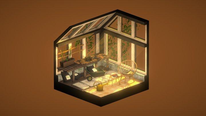 The Botanist's Greenhouse 3D Model