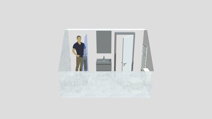 Travaux salle de bain 3D Model