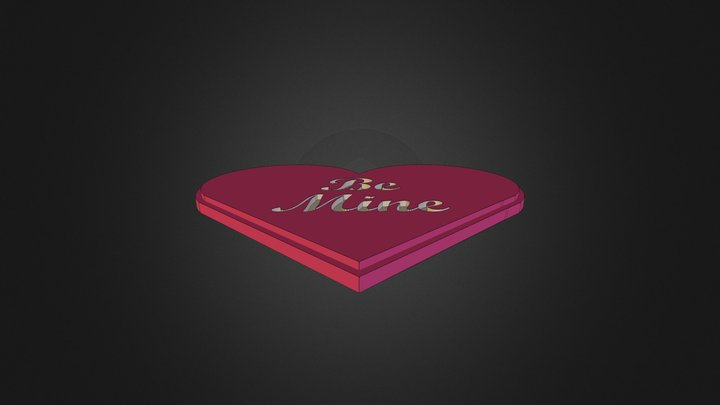Be Mine Heart 3D Model