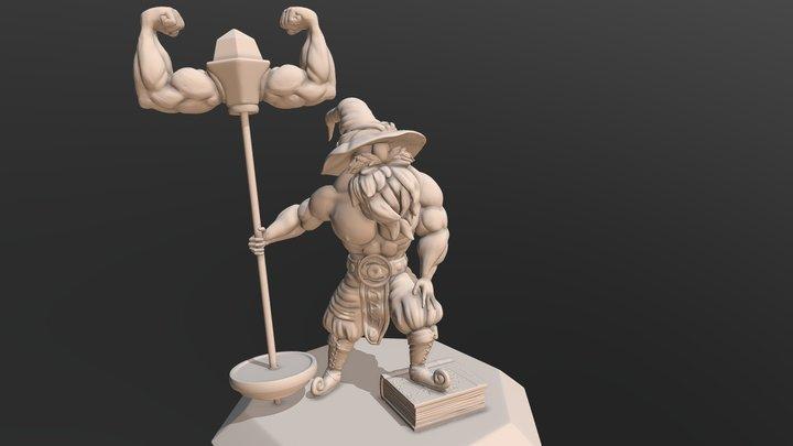 Level 35 Muscle Wizard [#SorceryChallenge] 3D Model