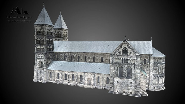 Cathedral Lund 3D Model